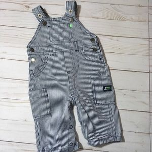 Carter's 3M striped overalls